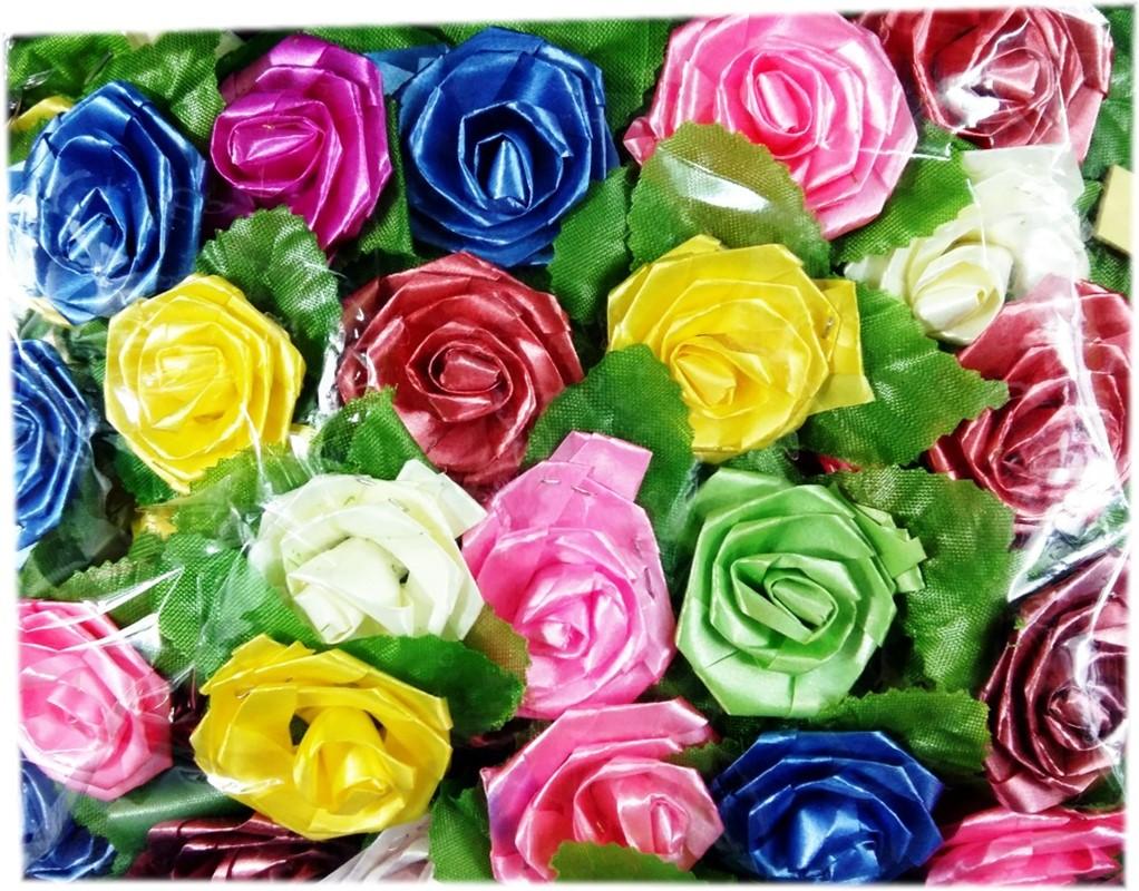 Art Dekoracyjne Kwiaty 100szt 40x50mm Różyczki Do Prezentów